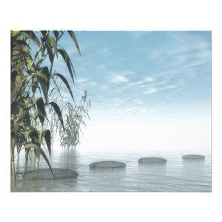 """Pasos del zen al horizonte folleto 4.5"""" x 5.6"""""""