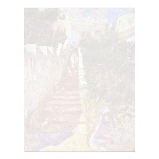 Pasos en Argel. Por Pierre-Auguste Renoir Plantilla De Membrete