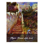Pasos en Argel. Por Pierre-Auguste Renoir Tarjeton