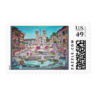 Pasos españoles - franqueo sello postal