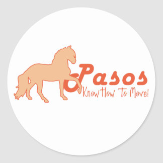 Pasos Know How To Move Classic Round Sticker