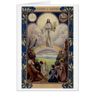 Pasqua di Guerra! Vintage Italian Easter Card Greeting Card