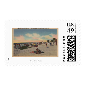 Pass-a-Grille Beach, Florida - Sunbathers on Postage