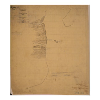 Pass Cavallo Civil Texas War Map Poster