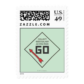 Pass Go Corner Square Postage