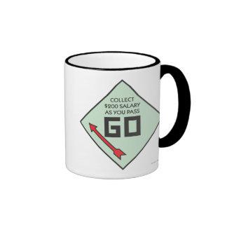 Pass Go Corner Square Ringer Coffee Mug