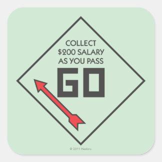 Pass Go Corner Square Square Sticker