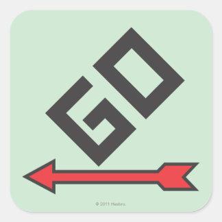 Pass Go Square Sticker