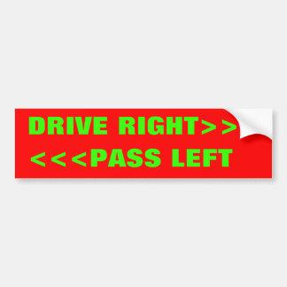 <<<PASS LEFT, DRIVE RIGHT>>> PEGATINA PARA AUTO