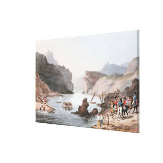 Pass of the Tagus at Villa Velha into the Canvas Print