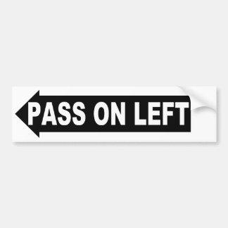 pass on left car bumper sticker
