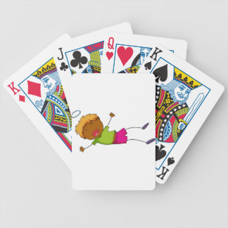 Pass out bicycle playing cards