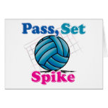 Pass Set Spike Greeting Card
