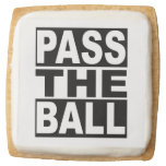 Pass the Ball Square Shortbread Cookie