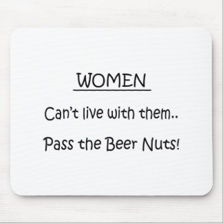Pass The Beer Nuts Mouse Pad