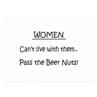 Pass The Beer Nuts Postcard