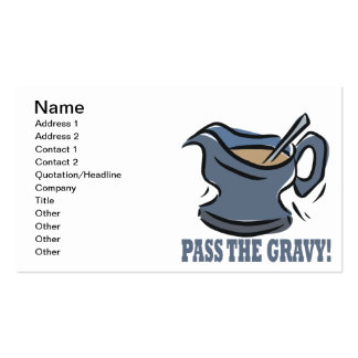 Pass The Gravy Double-Sided Standard Business Cards (Pack Of 100)