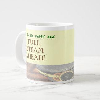 "Pass the ""Green Fairy"" and FULL STEAM AHEAD! Giant Coffee Mug"