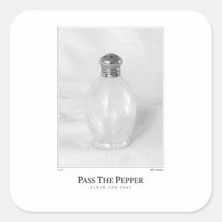Pass The Pepper Square Sticker