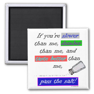 Pass the Salt 2 Inch Square Magnet