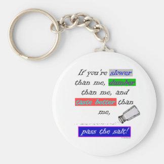 Pass the Salt Basic Round Button Keychain