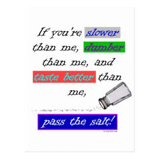 Pass the Salt Postcard