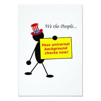 Pass Universal Background Checks Now 3.5x5 Paper Invitation Card