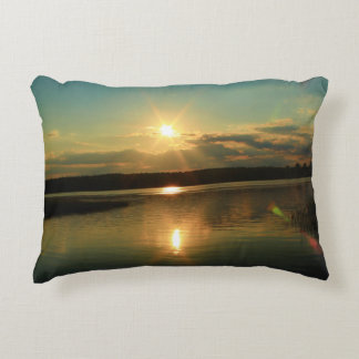 Passadumkeag, Maine at Sunset Decorative Pillow