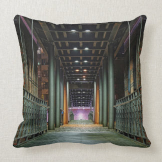 Passage bridge throw pillow