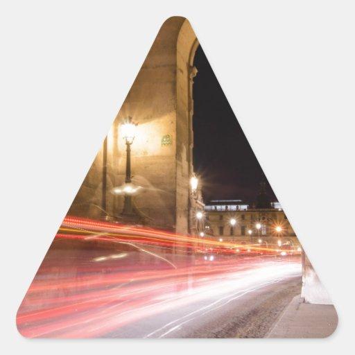 passage car traffic at night triangle sticker