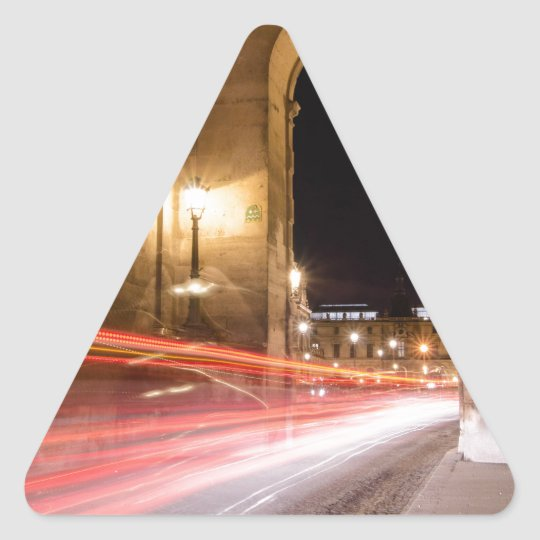 passage car traffic at night triangle sticker