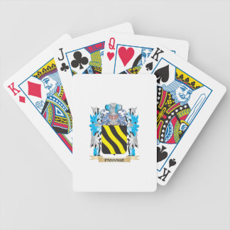 Passage Coat of Arms - Family Crest Bicycle Playing Cards