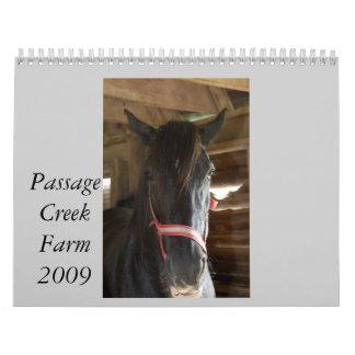 Passage Creek Farm Calendar 2009