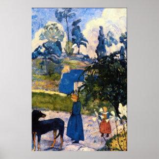 Passage de Bretaña de Eugène Enrique Paul Gauguin Posters