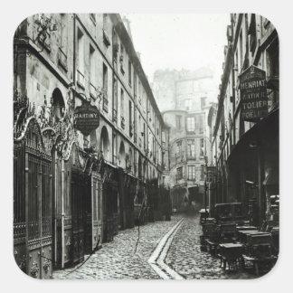 Passage du Dragon, Paris, 1858-78 Square Sticker