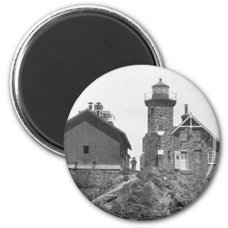 Passage Island Lighthouse 2 Inch Round Magnet