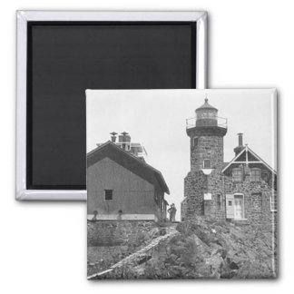 Passage Island Lighthouse 2 Inch Square Magnet