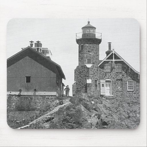 Passage Island Lighthouse Mouse Pads