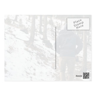 Passage Themed, A Man In Blue Hoodie Walking Throu Postcard