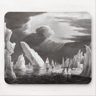 Passage through the Ice, engraved by D. Havell Mouse Pad