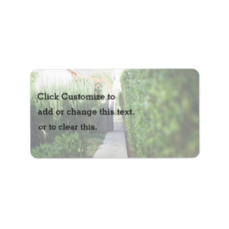 Passage to the backyard address label