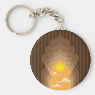 Passage to the Sun vector Basic Round Button Keychain