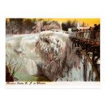 Passaic baja en el invierno, Paterson, vintage de Postal