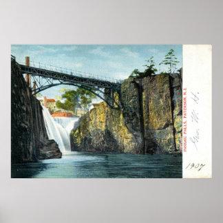 Passaic Falls, Paterson NJ 1907 vintage Poster