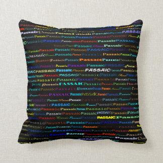 Passaic Text Design I Throw Pillow