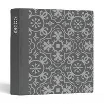Passcodes Charcoal Grey & Medium Gray Tile Pattern Binder