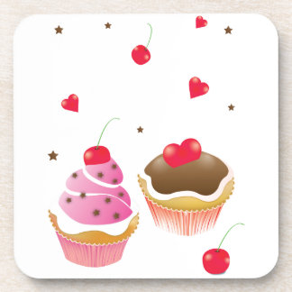 """Passe-partout mounting """"Love of cupcakes """" Beverage Coaster"""