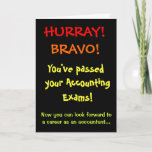 Passed Accounting Exams Accountant Congratulations Card