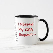 Passed CPA Exams! Accountant Exam Pass Joke Mug