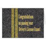 Passed Driver's License Exam Test Road Asphalt Greeting Card